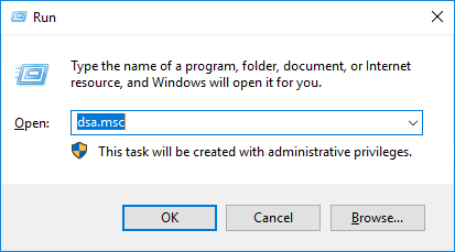 Active Directory Users and Computers - Ejecutar