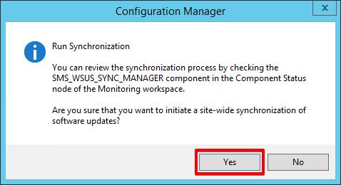 13 - SCCM - Software Updates - Run Synchronization