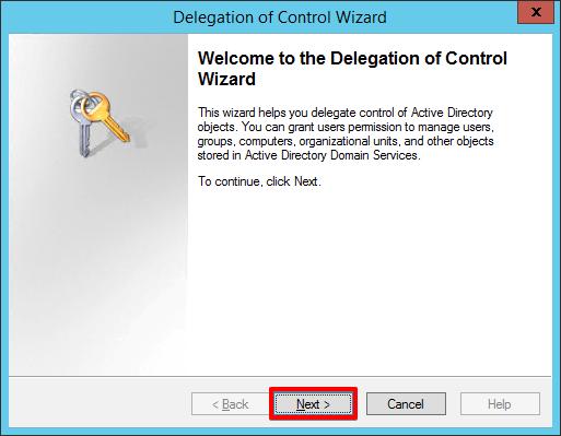 2 - Active Directory - Delegate Control Wizard
