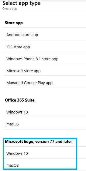 4 - Intune - Client Apps - Microsoft Edge