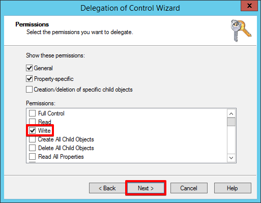 6 - Active Directory - Permissions Write