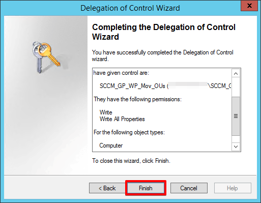7 - Active Directory - Delegate Control Finish